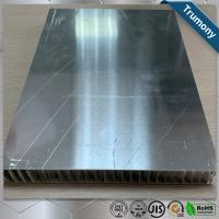 Quality Surface Brushed Aluminum Honeycomb Panels For Interior Exterior Wall Decoration for sale