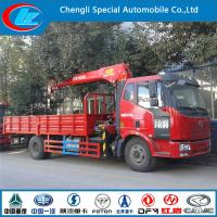 Quality Dongfeng 4*2 truck crane used DIESEL cranes for sale 2015 new condition truck crane 5 ton for sale