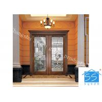 China Single Round Head Decorative Panel Glass For Entry Door Low E 3.2m Tempered on sale