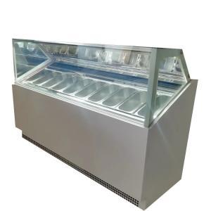 Quality Single Row Italian Gelato Fridge Freezer Ice Cream Showcase for sale