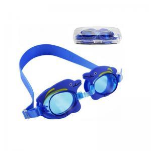 Non Slip Double Strap Kids Prescription Swim Goggles Customized Logo Printing