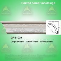 Quality Fashion carved pu crown moldings for sale