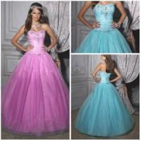 Quality 2012 New Lovely Sweetheart A-Line Sheath Jacket Paillette Beaded Ruffle Tulle Quinceanera Dresses (QD-027) for sale
