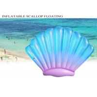 Buy cheap Sea Scallop Buoy Inflatable Pool Toys Floats Blue Color 0.25mm PVC Customized from wholesalers