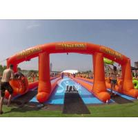 China 1000 ft commercial use outdoor double lane inflatable water slide N slip on sale for water parties fun on sale