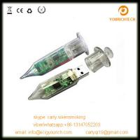 China Cheap promotional plastic injection syringe usb flash drive on sale