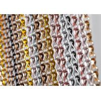 Quality Aluminum Chain Fly Door Curtains Double Hook Chain Link Mesh Curtains for sale
