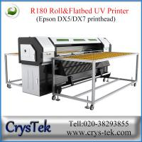 Quality roll to roll and flatbed uv digital printer, white ink printing for wood glass ceramic printing for sale