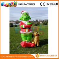 mini oxford cloth green airblown inflatable grinch inflatable christmas grinch