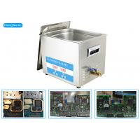 Quality 600W Heating Power Ultrasonic PCB Cleaner With Heater 30L 500W for sale