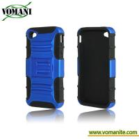 Quality PC+silicone case for iphone4/4S, with Tri-Band design,Belt Clip for sale