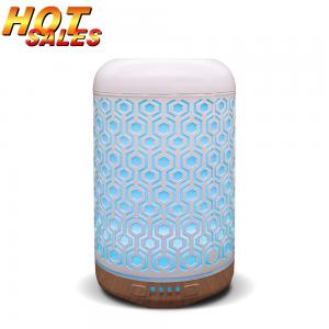Quality 100ML Essential Oil Diffuser Metal Iron Aromatheraply Aroma Diffuser With Led Light CE Certificate for sale