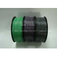 China Custom Color Changing abs and makerbot pla filament 1.75 / 3.0mm Grey to white on sale
