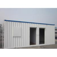 Quality Easy Transportation Prefab Steel Houses With Fiber Glass Wool Insulation for sale