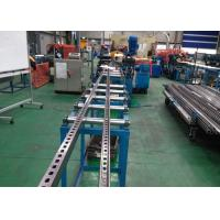 Quality C Slotted Strut Channel Roll Forming Equipment Speed 10 m/Min With Serration for sale