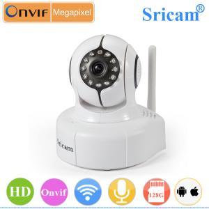 Quality Sricam SP011p2p HD 720P pan tilt mini wifi ir ip camera for sale