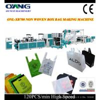 Quality single phase non woven bag making machine for nonwoven zipper bag for sale