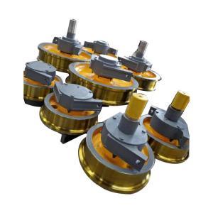China Customized Crane Trolley Wheels , Double Flange Steel Cast Crane Rail Wheels on sale