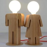Quality Goy & Girl Wooden Table Lamp for sale
