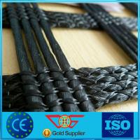 China Agriculture Poly Grid Warp Knitted Polyester Geogrid Of Biaxial / Uniaxial 30 - 200 Kn on sale