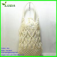 Quality Crochet Engraving flower Paper String Straw Bags for sale
