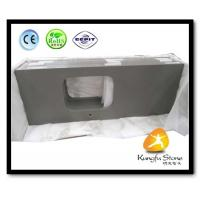 Quality Xiamen Kungfu Stone Ltd supply Fine Grey Quartz Kitchen Countertops  In High quality and cheap price for sale