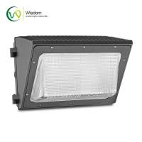 Quality 100w 347v Glass Wall Pack Light Photocell Control AC100-277V For Outdoor Lighting for sale