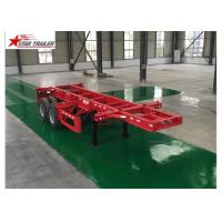 Quality Leaf Spring Type 40 Ft Low Bed Trailer , 40 Foot Triple Axle Trailer For Truck for sale