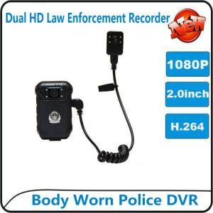 1080P Body Worn Police DVR Camera IP56 Waterproof Law Enforcement Audio Video Recorder