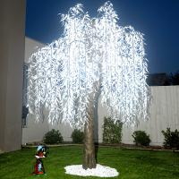 Quality white artificial led weeping willow tree light for sale