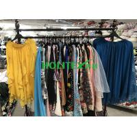 China American style used women's clothing , second hand clothes , first grade ladies silk skirt on sale