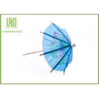 Buy cheap Blue Umbrella Decorative Food Toothpicks For Fruit Decoration Free Sample from Wholesalers