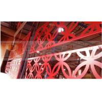 Durable Glossness Red Perforated Aluminum Panels For Buildings