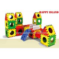 Quality Combination Indoor Playground Kids Toys For Plastic Link Building Blocks Slide for sale