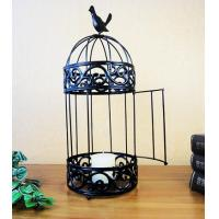 Quality bird cage shaped metal candle holder for home decoration for sale