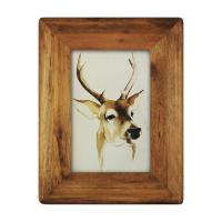 Quality icheesday  Wood Picture Frame,Glass Front Wall Hanging Rustic Handmade Tabletop Photo Frames for sale