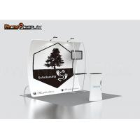 Quality Custom Made Trade Show Booth Displays 10x10 With 100% Polyester Fabric Stand for sale