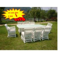 Quality All Weather Wicker Patio Furniture 9pcs Rattan Garden Dining Set Outdoor for sale
