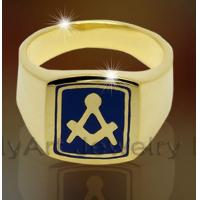 Quality wholesale new design brass or sterling silver custom masonic ring for sale