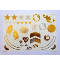 Quality getbetterlife fashion design gold silver flash tattoo temporary foil gold metallic tattoo for sale