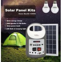 Quality solar powered solar panel lighting kits for camping, mini solar home  system , solar light for camping solar bule.yellow for sale