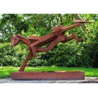 Quality Public Art Luxury Stainless Steel Outdoor Sculpture With Corten Steel Base for sale