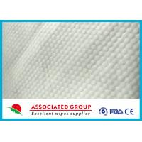Quality Small Pearl Dot Spunlace Nonwoven Fabric , Nonwoven Roll Ultra Thick 30~120GSM for sale