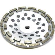 "Quality 12 segment 7"" Inch Concrete and Stone grinding Double Row Diamond Cup Wheel for sale"