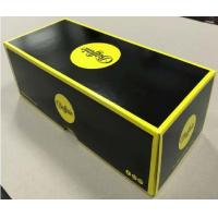 Quality Lid And Base Cardboard Shoe Boxes Black Yellow Easy To Disassemble Customized for sale