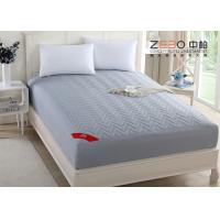 Quality 180T Professional Hotel Mattress Protector Cotton Nice Hollow Fiber Filling for sale