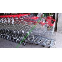 Buy 150 Litres Wire Shopping Trolley For Mall , American Style Steel Hand Push Cart at wholesale prices