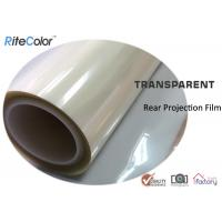Quality Rear Projection Holographic Screen Film / Transparent Rear Projector Film for sale