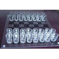 Glass Chess Set,White Glass Chess Game,Large Glass Chess Set