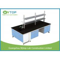 Quality C Frame Medical Workbench Furniture With MDF Cabinet Black Epoxy Resin Worktop for sale
